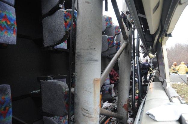New England Thruway Bus Crash, March 12, 2011 - Inside Bus