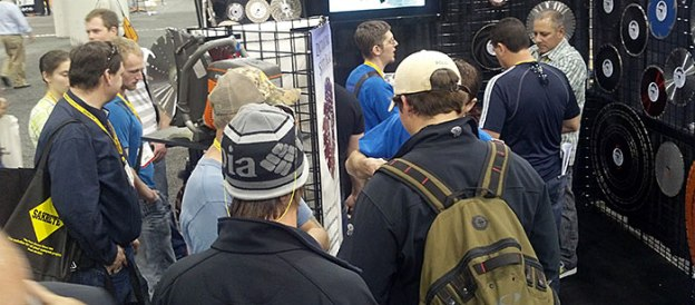 Crowded Desert Diamond Industries Booth at World of Concrete