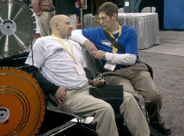 Mike Harris and Glen Hellebrand of Desert Diamond Industries Sitting at World of Concrete