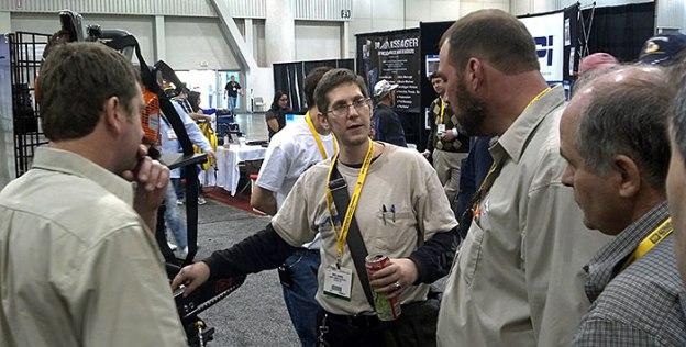 Mike Harris of Desert Diamond Industries Showing Off Saws at World of Concrete