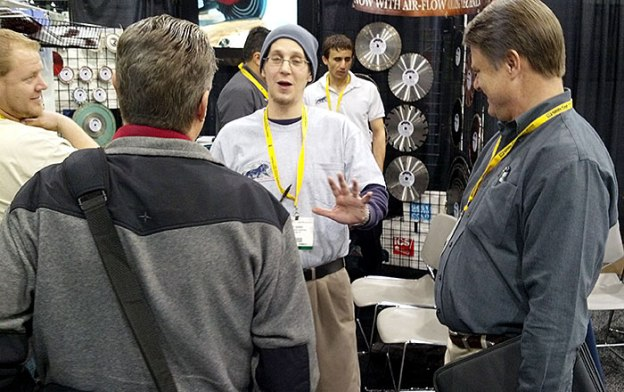 Mike Harris of Desert Diamond Industries Talking to Customers at World of Concrete 2013