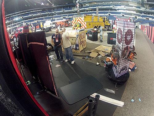 Booth Setup at FDIC 2013