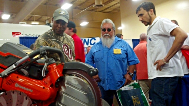 Gionni Mione Selling the Husqvarna K970 Ring Saw at Tri-State Seminar On-The-River