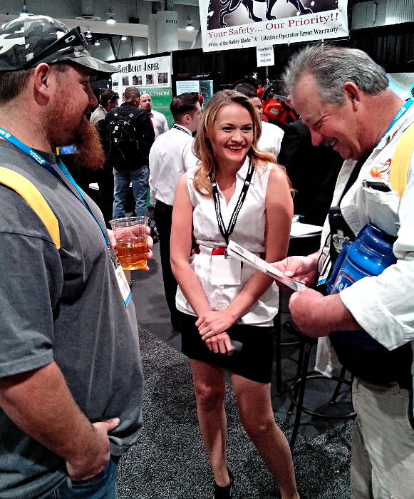 Booth Attendant Elisabeth Lund at World of Concrete 2104