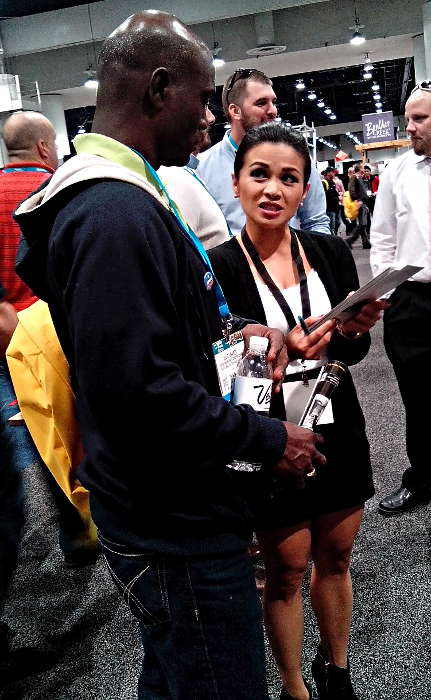 Booth Attendant Marie Lavo at World of Concrete 2104
