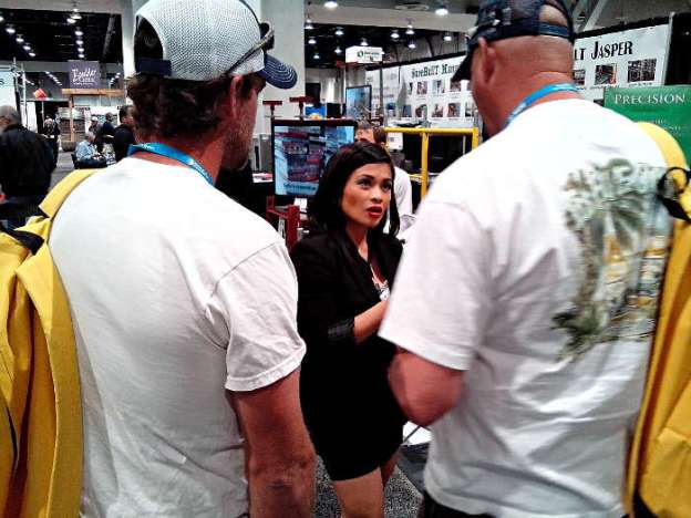 Booth Attendant Marie Lazo at World of Concrete 2014
