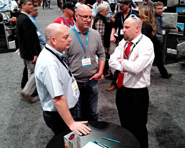 Glen Hellebrand of Desert Diamond Industries Speaking with Customers at World of Concrete 2014