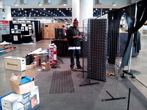 Phil Leggard in Desert Diamond Industries' Booth at World of Concrete 2014