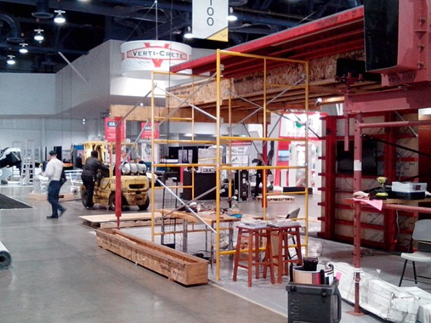 Setup at World of Concrete 2014