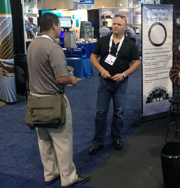 Nicholas Mione with Customer at ACE14, June 8